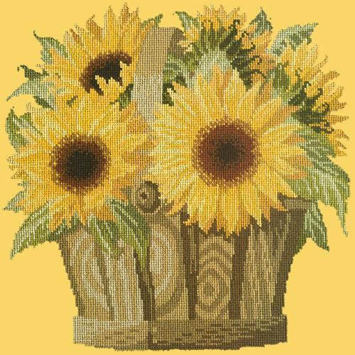 Sunflower Basket Needlepoint Kit Elizabeth Bradley Design Sunflower Yellow
