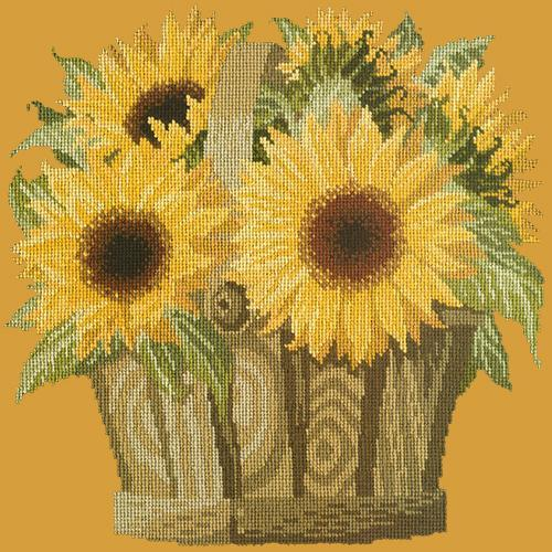 Sunflower Basket Needlepoint Kit Elizabeth Bradley Design Yellow