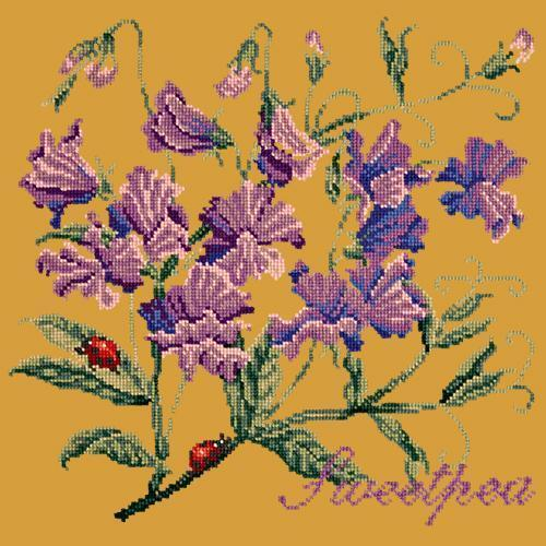 Sweetpea Needlepoint Kit Elizabeth Bradley Design Yellow