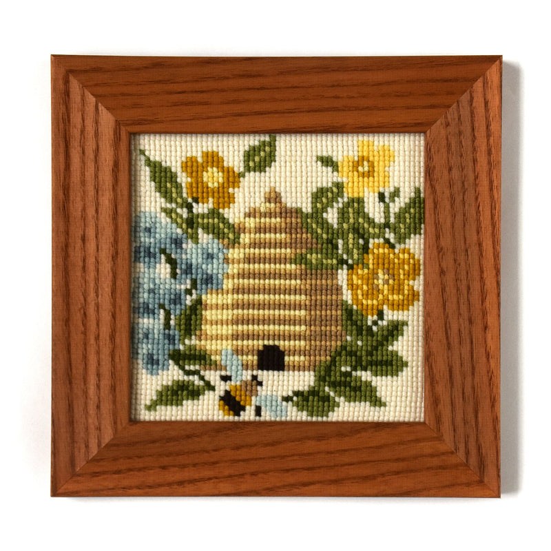 The Beekeeper Mini Kit Needlepoint Kit Elizabeth Bradley Design