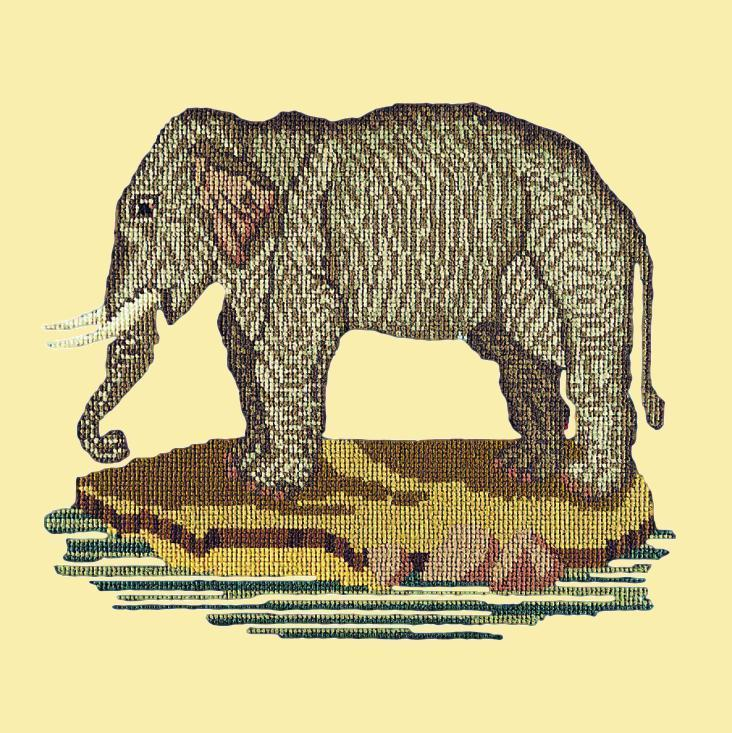 The Elephant Needlepoint Kit Elizabeth Bradley Design Butter Yellow