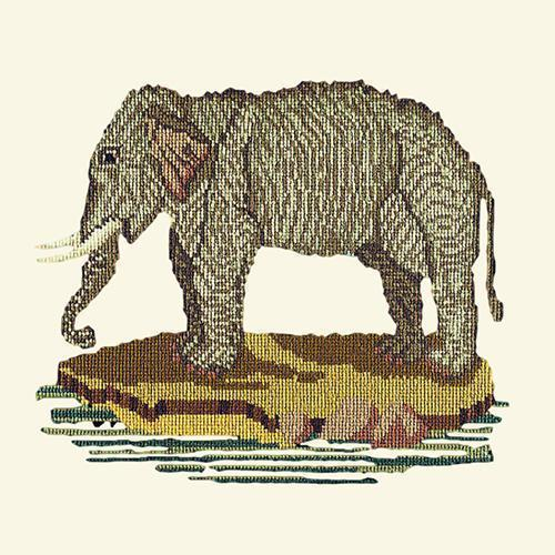 The Elephant Needlepoint Kit Elizabeth Bradley Design Winter White
