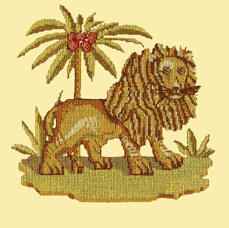 The Lion Needlepoint Kit Elizabeth Bradley Design Butter Yellow