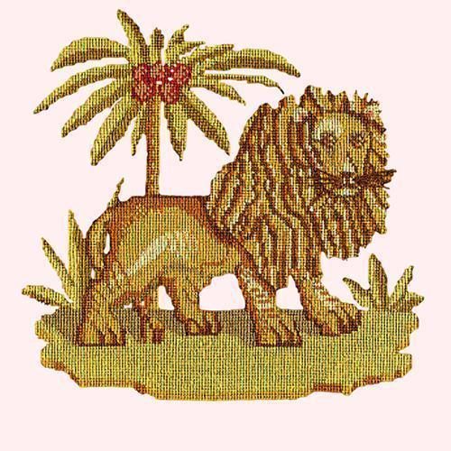 The Lion Needlepoint Kit Elizabeth Bradley Design Cream