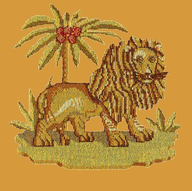 The Lion Needlepoint Kit Elizabeth Bradley Design Yellow