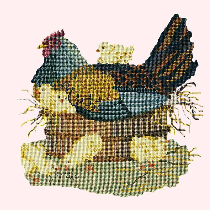 The Mother Hen Needlepoint Kit Elizabeth Bradley Design Cream