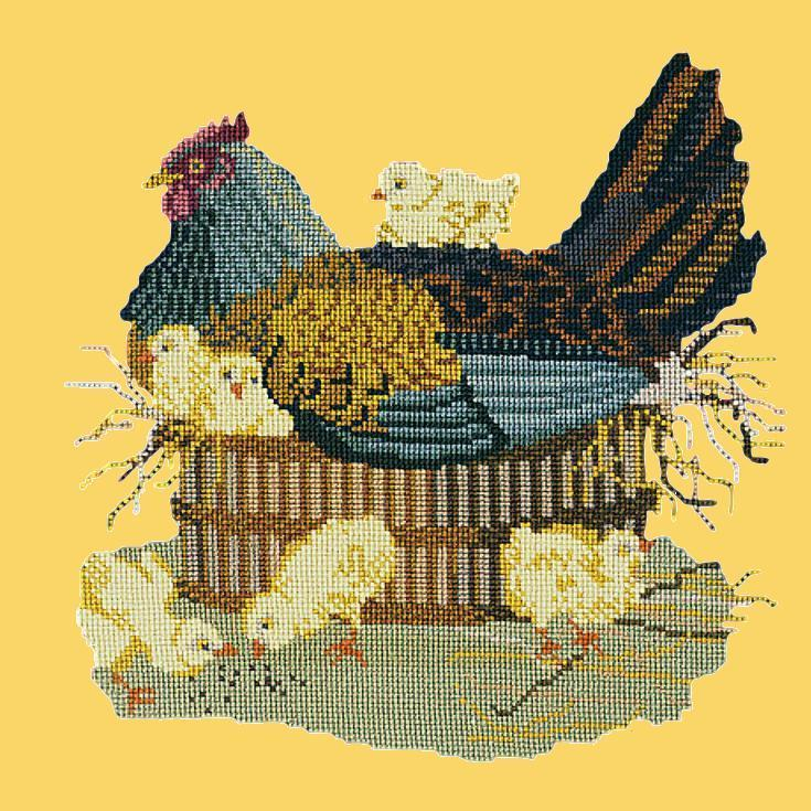 The Mother Hen Needlepoint Kit Elizabeth Bradley Design Sunflower Yellow