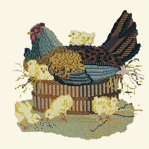 The Mother Hen Needlepoint Kit Elizabeth Bradley Design Winter White