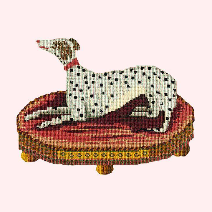 The Spotted Dog Needlepoint Kit Elizabeth Bradley Design Cream