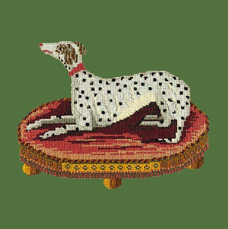 The Spotted Dog Needlepoint Kit Elizabeth Bradley Design Dark Green