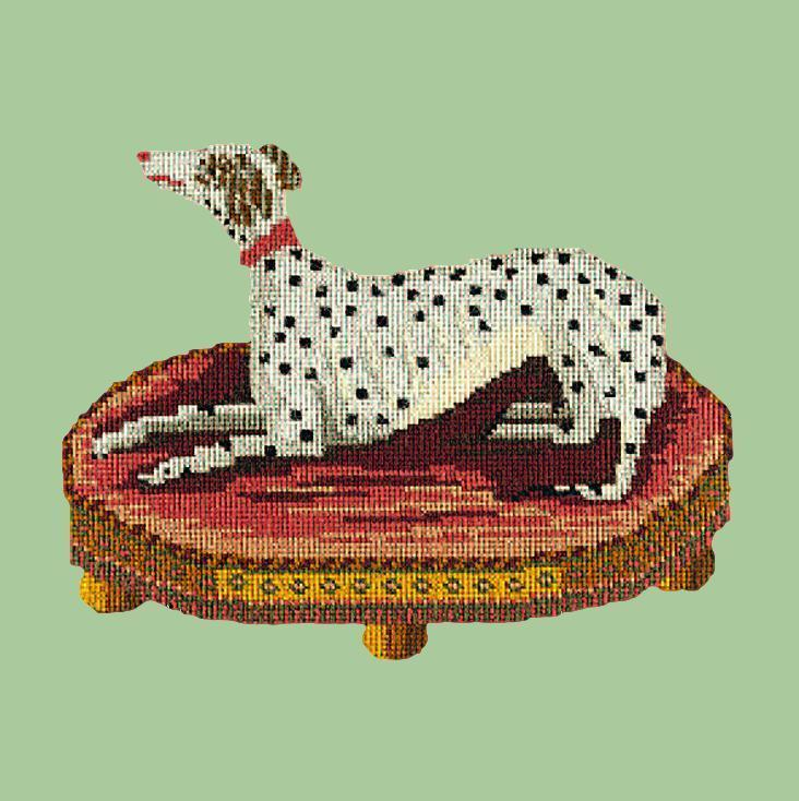 The Spotted Dog Needlepoint Kit Elizabeth Bradley Design Pale Green