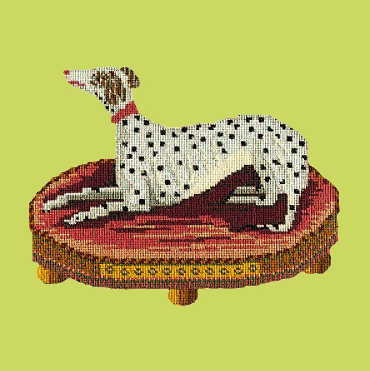 The Spotted Dog Needlepoint Kit Elizabeth Bradley Design Pale Lime