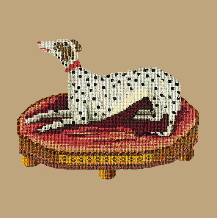 The Spotted Dog Needlepoint Kit Elizabeth Bradley Design Sand
