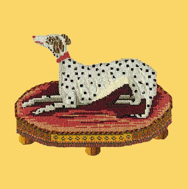 The Spotted Dog Needlepoint Kit Elizabeth Bradley Design Sunflower Yellow