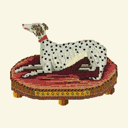 The Spotted Dog Needlepoint Kit Elizabeth Bradley Design Winter White