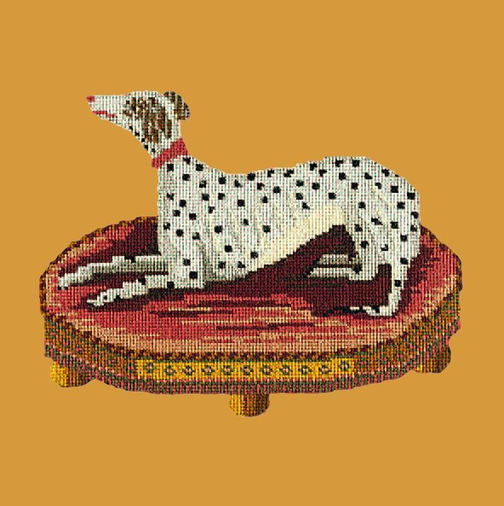 The Spotted Dog Needlepoint Kit Elizabeth Bradley Design Yellow