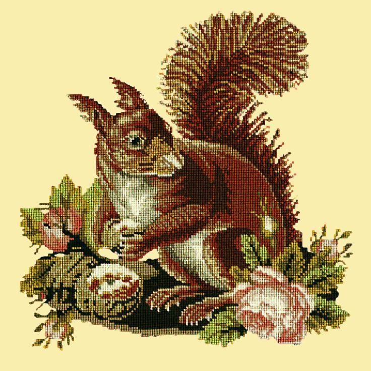 The Squirrel Needlepoint Kit Elizabeth Bradley Design Butter Yellow