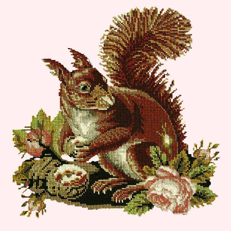 The Squirrel Needlepoint Kit Elizabeth Bradley Design Cream