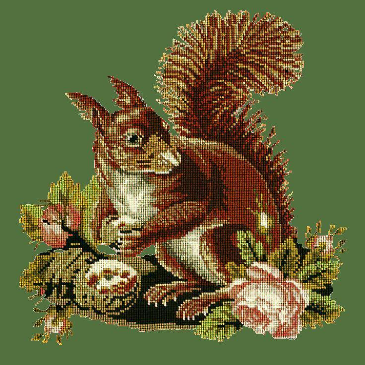 The Squirrel Needlepoint Kit Elizabeth Bradley Design Dark Green
