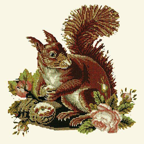 The Squirrel Needlepoint Kit Elizabeth Bradley Design Winter White