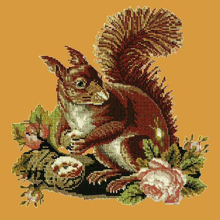 The Squirrel Needlepoint Kit Elizabeth Bradley Design Yellow