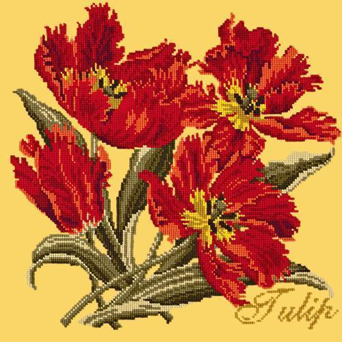 Tulip Needlepoint Kit Elizabeth Bradley Design Sunflower Yellow