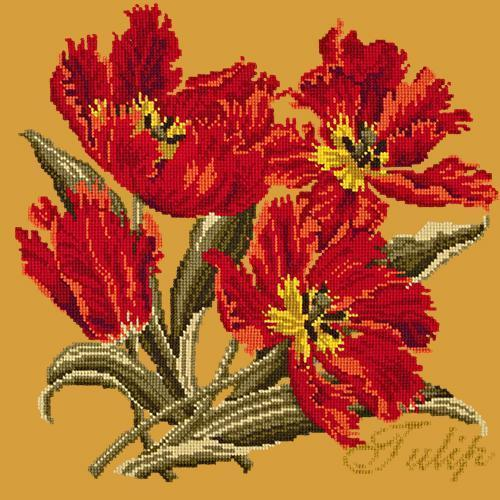 Tulip Needlepoint Kit Elizabeth Bradley Design Yellow
