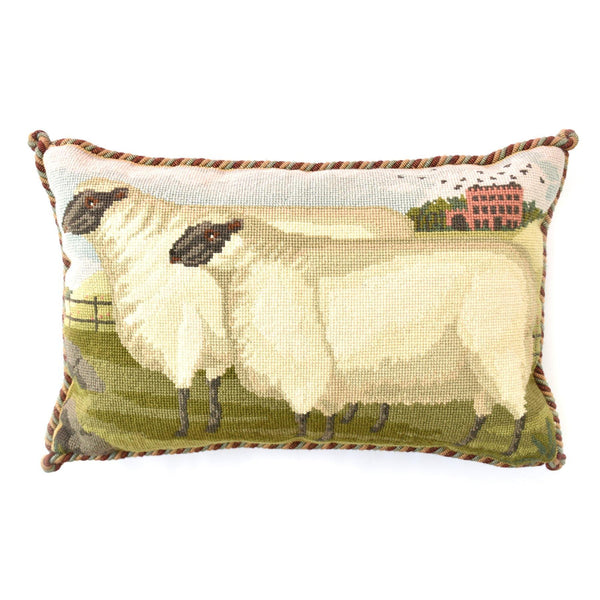 Two Fat Suffolk Lambs Needlepoint Kit Elizabeth Bradley Design