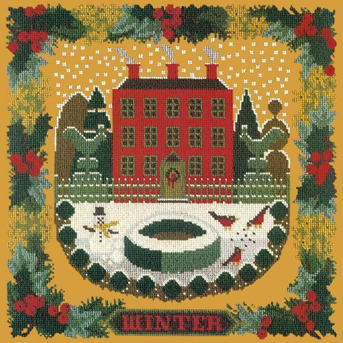 Winter Sampler Needlepoint Kit Elizabeth Bradley Design Yellow