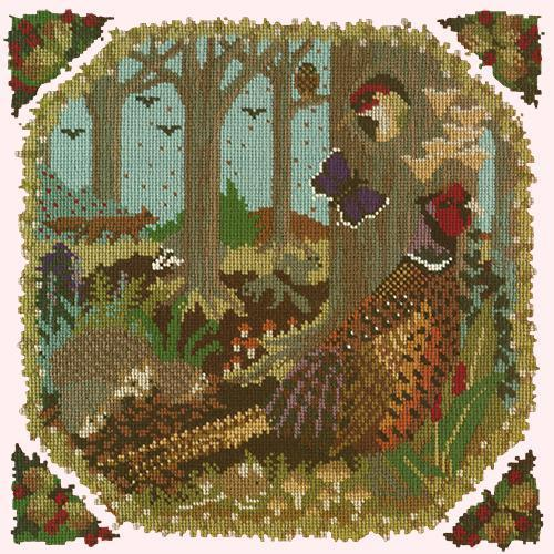 Woodland Needlepoint Kit Elizabeth Bradley Design Cream