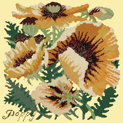 Yellow Poppy Needlepoint Kit Elizabeth Bradley Design Butter Yellow