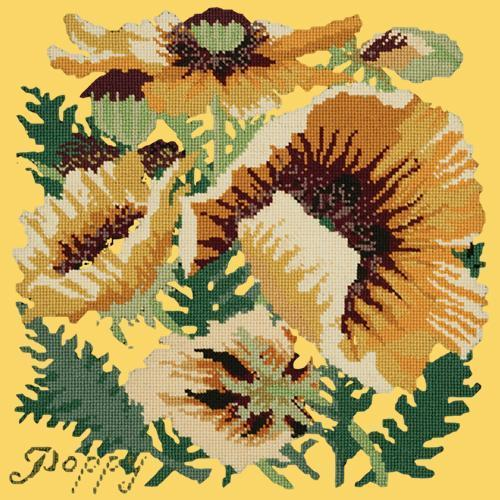 Yellow Poppy Needlepoint Kit Elizabeth Bradley Design Sunflower Yellow
