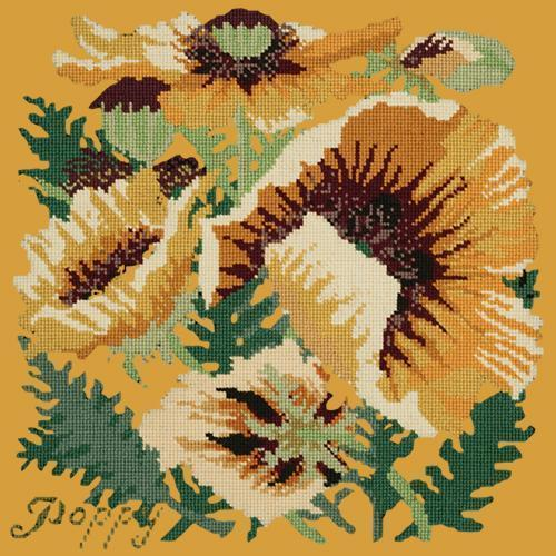 Yellow Poppy Needlepoint Kit Elizabeth Bradley Design Yellow