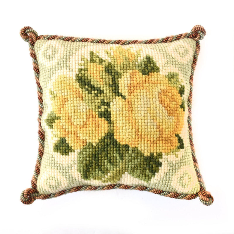 Yellow Roses Mini Kit Needlepoint Kit Elizabeth Bradley Design