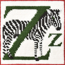 Z-Zebra Needlepoint Kit Elizabeth Bradley Design