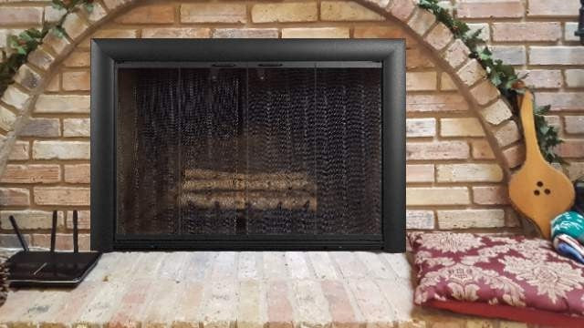 Bungalow Aluminium Masonry Fireplace Glass Door - Standard Sizes - ExceptionalFire