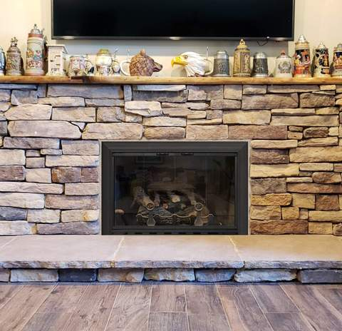 Aluminium Standard Sizes Fireplace Door Masonry - Savannah - ExceptionalFire