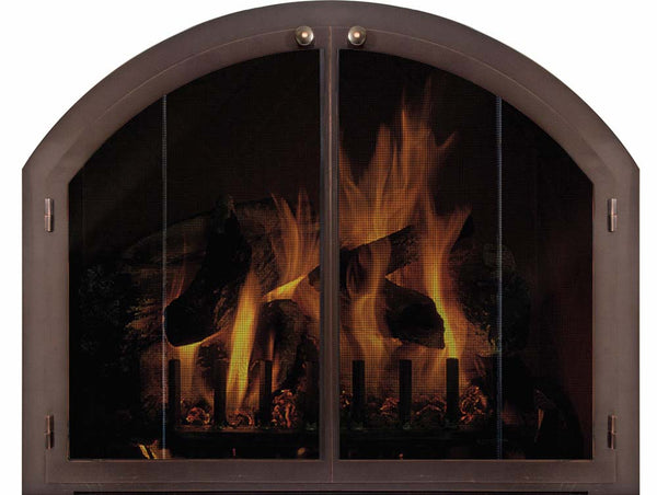 Steel Fireplace Glass Door Masonry - Legend Plain Arch - ExceptionalFire