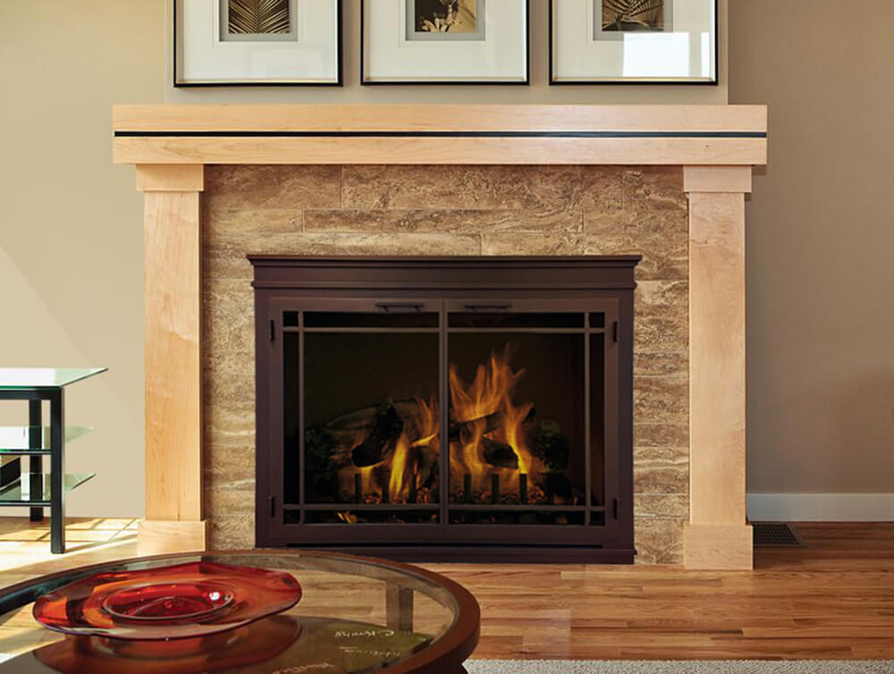 Steel Fireplace Glass Door Masonry & Zero Clearance - Mantel - ExceptionalFire