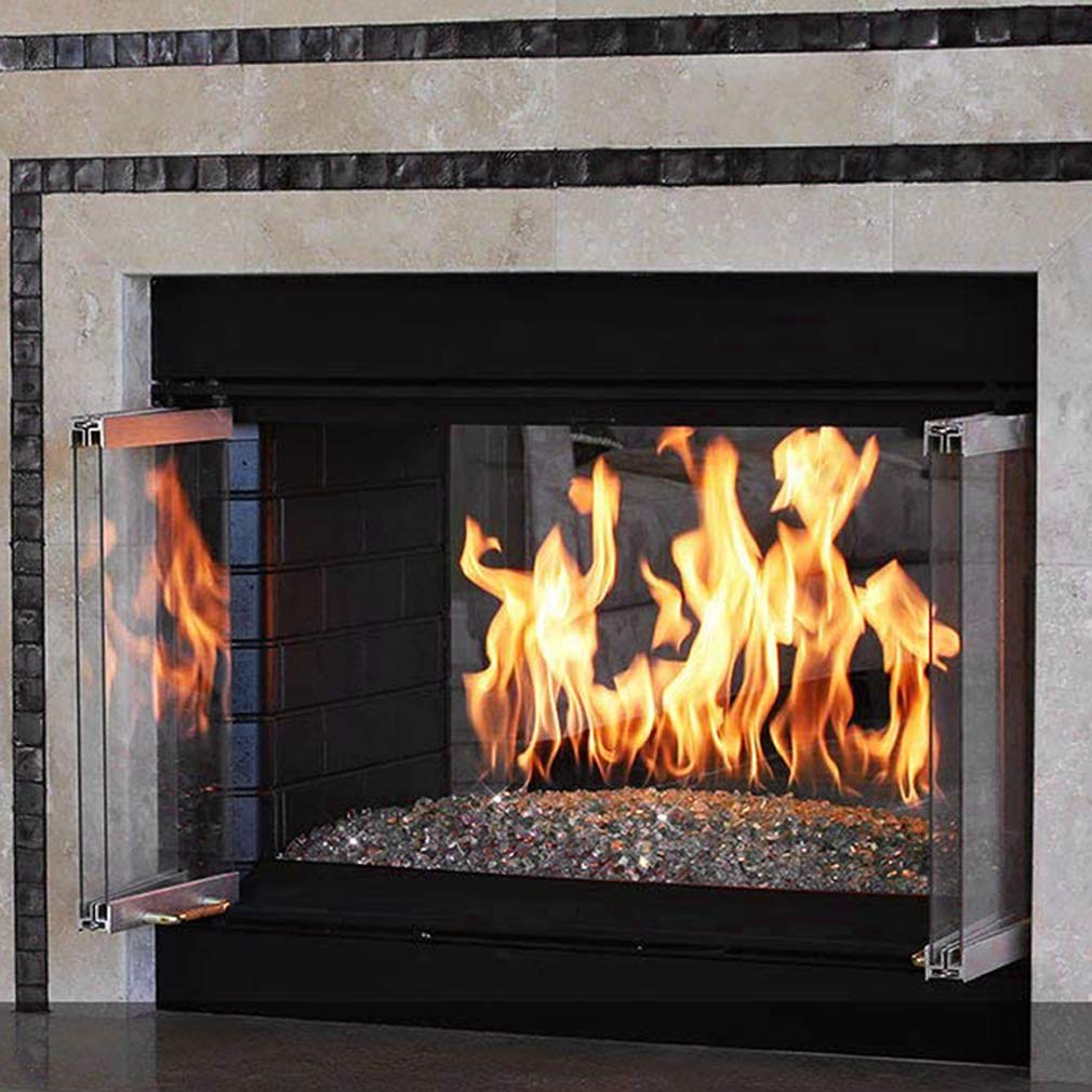 "Rectangular Fire Pit and Fireplace H-Burner 24"" x 6"", Stainless Steel - ExceptionalFire"