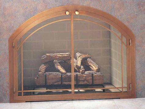 Steel Fireplace Glass Door Masonry - Legend Pane Window Arch - ExceptionalFire