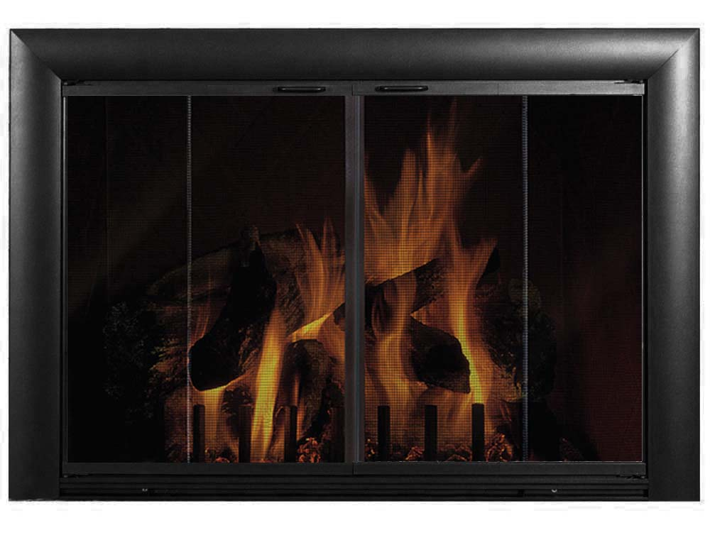 Bungalow 2 Aluminium Masonry Fireplace Glass Door - Standard Sizes - ExceptionalFire