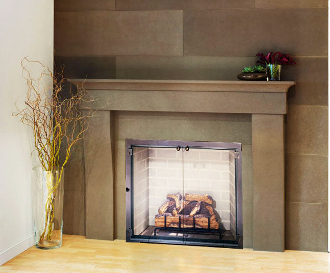 Steel Fireplace Glass Door Masonry & Zero Clearance - All Glass - ExceptionalFire