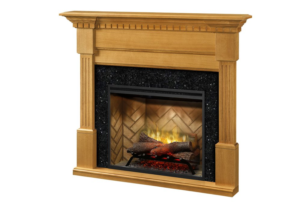Dimplex Christina® Fireplace Mantel Package in Rift Oak Finish BM3033-1801RO - ExceptionalFire