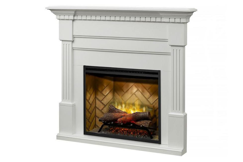 Dimplex Christina® Fireplace Mantel Package in White Finish BM3033-1801W - ExceptionalFire