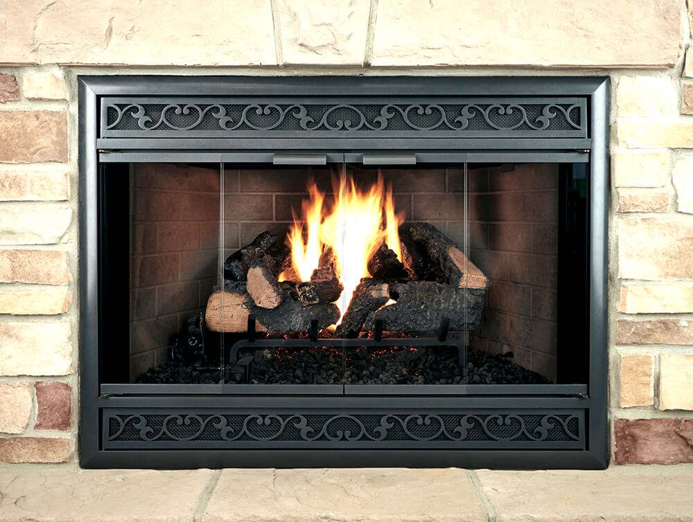 Aluminum Fireplace Glass Door Zero Clearance - Brookfield ZC Deluxe - ExceptionalFire