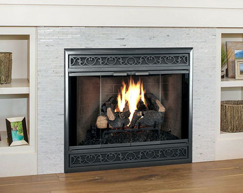 Aluminum Fireplace Glass Door Zero Clearance - Brookfield ZC Deluxe Direct Vent - ExceptionalFire