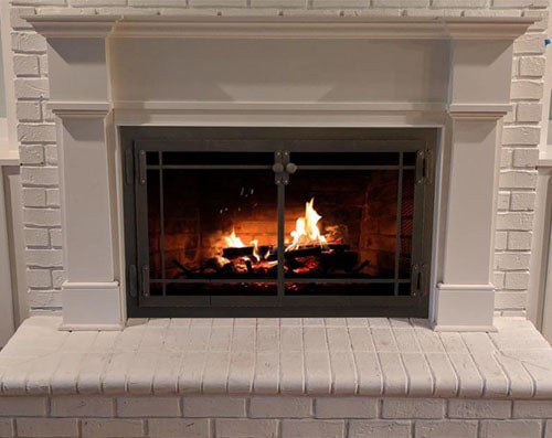 Steel Fireplace Glass Door Masonry & Zero Clearance - Craftsman - ExceptionalFire