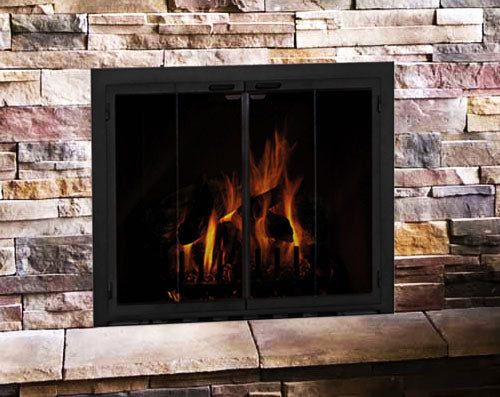 Steel Fireplace Glass Door Masonry & Zero Clearance - Carolina - ExceptionalFire