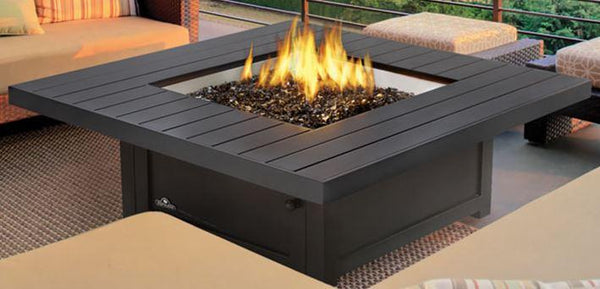 Napoleon St. Tropez Patioflame® Bronze Gas Fire Table, Square GPFTS48BZ - ExceptionalFire